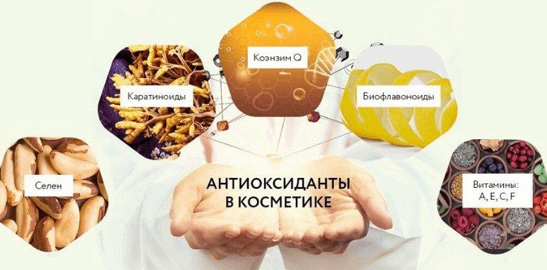 антиоксиданты в составе крема