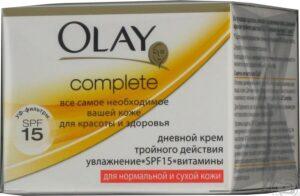 Olay Complete Дневной крем тройного действия с УФ фильтрами