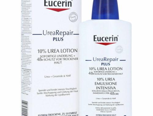 Eucerin UreaRepair PLUS для сухой кожи лица и тела, уход за сухой кожей лица и тела, мочевина в составе косметики