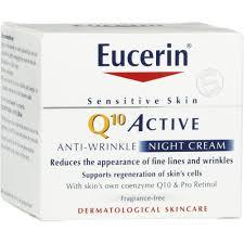 Косметика Eucerin - линия  Q10 Active, уход за зрелой кожей, против старения, косметика против морщин
