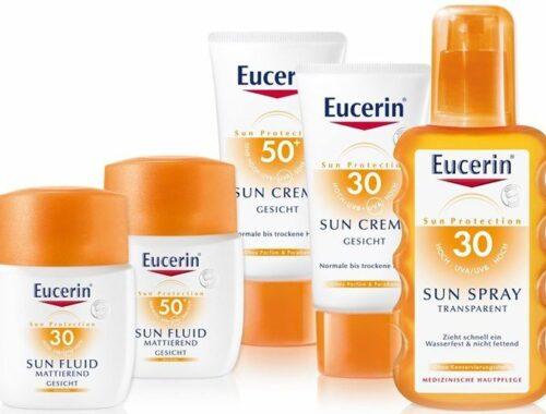 Солнцезащитные средства Eucerin Sun для сухой кожи