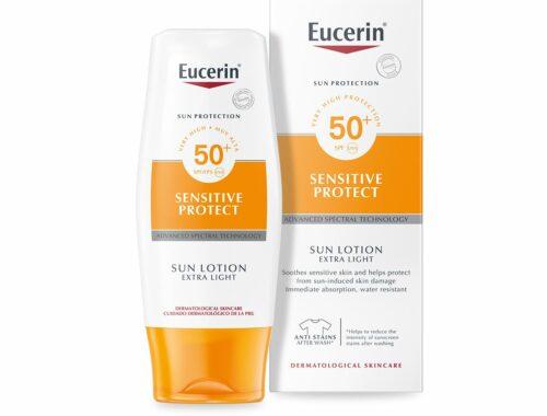 Солнцезащитные средства Eucerin Sun, легкий лосьон для защиты от солнца