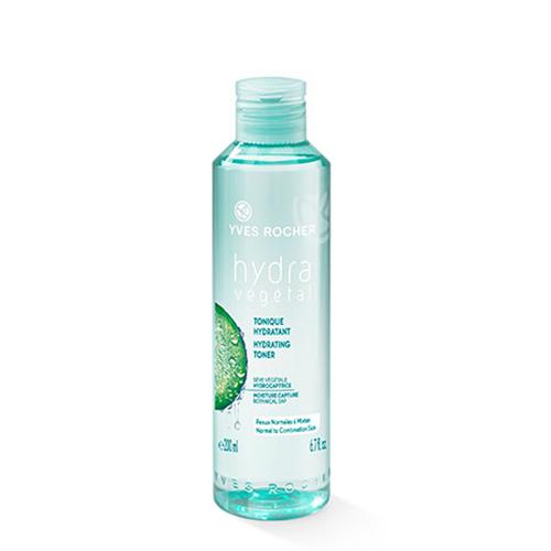 Косметика Yves Rocher линия Hydra Vegetal тоник, пилинг, очищающие средства, увлажнение кожи