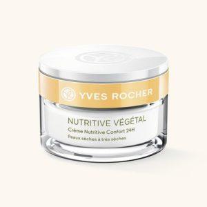 Косметика Yves Rocher - питание кожи Nutritive Vegetal, уход за сухой кожей лица, крем для сухой кожи лица