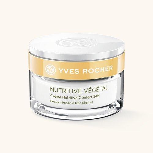 Косметика Yves Rocher питание кожи Nutritive Vegetal, уход за сухой кожей лица, крем для сухой кожи лица