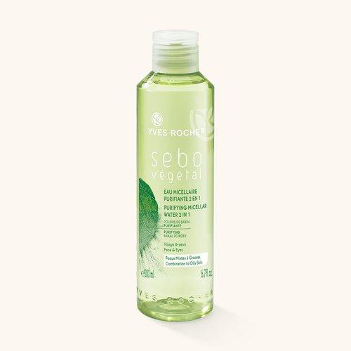 Косметика Yves Rocher линия Sebo Vegetal, мицеллярная вода, очищение жирной кожи лица