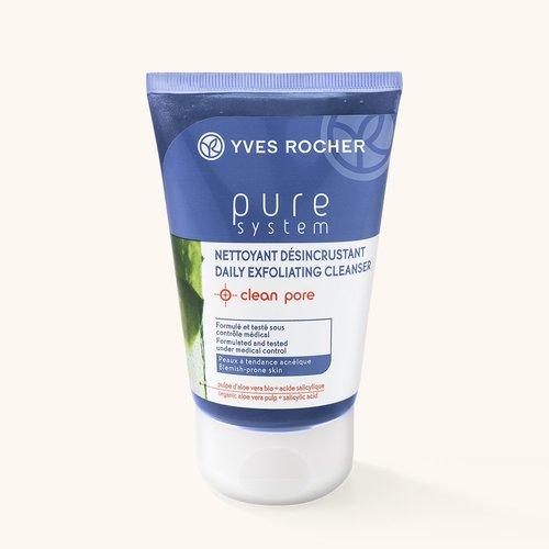 Косметика Yves Rocher - линия Pure System, уход за жирной кожей лица, как избавиться от прыщей, очищающие средства для жирной кожи