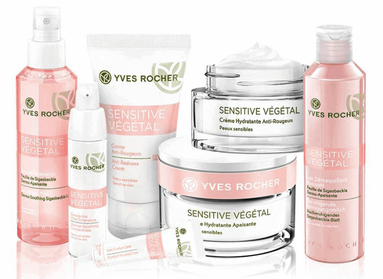 Косметика Yves Rocher линия Sensitive Vegetal