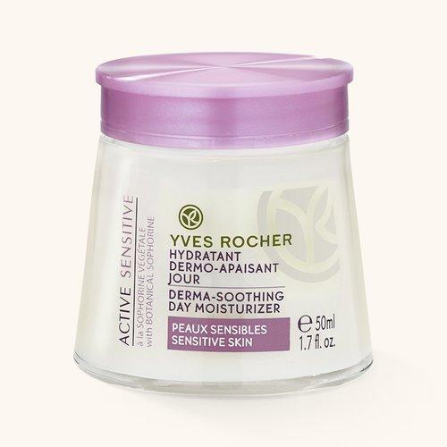 Косметика Yves Rocher увлажнение Sensitive Vegetal, уход за чувствительной кожей лица, увлажнение чувствительной кожи