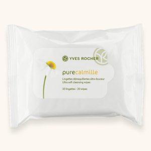 Косметика Yves Rocher - базовый уход Pure Calmille, очищающие средства, косметика для молодой кожи, очищающие салфетки