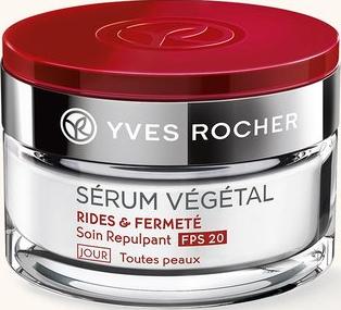 Косметика Yves Rocher Serum Vegetal уход anti-age, косметика против старения кожи, дневной крем от морщин