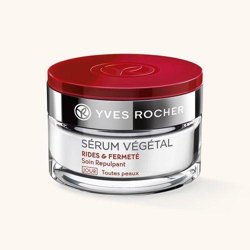 Косметика Yves Rocher Serum Vegetal от морщин, дневной крем от морщин, косметика против старения кожи