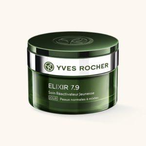 Косметика Yves Rocher - линия Elixir 7,9 - уход Анти-стресс, дневной крем, уход за комбинированной кожей лица, уход за кожей анти-стресс, уход за усталой кожей лица