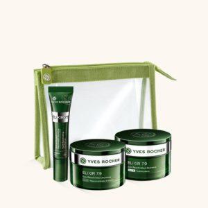 Косметика Yves Rocher - линия Elixir 7,9 - уход Анти-стресс, косметика anti-age, косметика против старения кожи, уход за усталой кожей лица