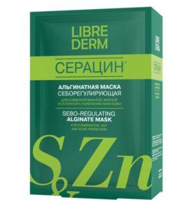 """LIBREDERM - """"Серацин"""" - маска, скраб, альгинатная маска, уход за жирной кожей, как избавиться от черных точек"""