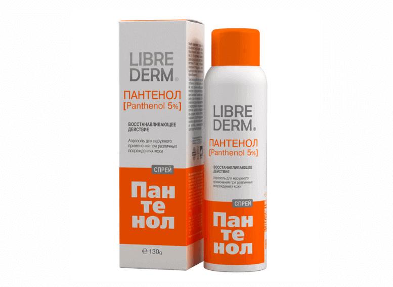 Librederm Пантенол спрей и крем для восстановления кожи