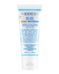 KIEHL'S линия BLUE HERBAL для жирной кожи, уход за жи рной кожей лица, как избавиться от прыщей, как избавиться от черных точек, увлажнение жирной кожи лица