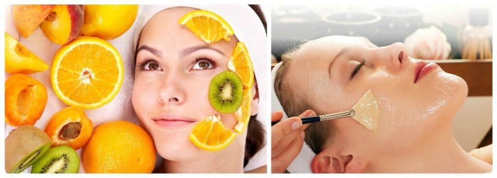 Коррекция фотостарения, фруктовые кислоты против фотостарения